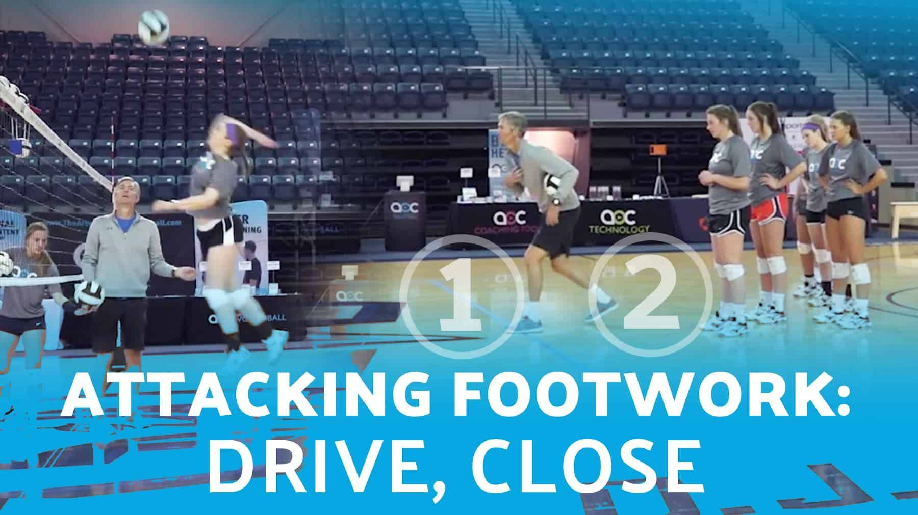 Attacking Footwork Drive Close The Art Of Coaching Volleyball Coaching Volleyball Volleyball Drills Coaching