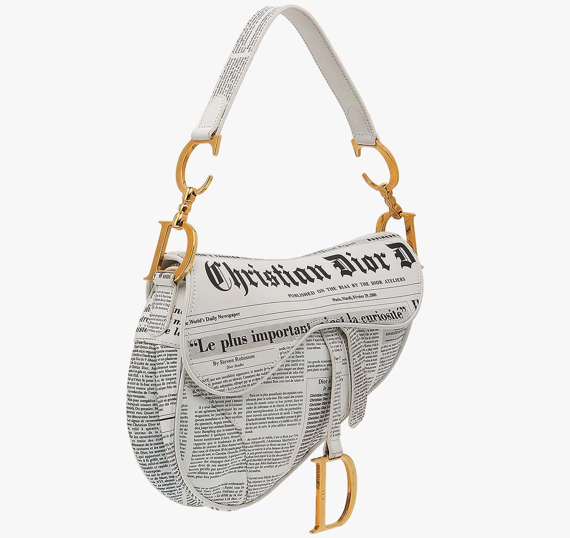 6f8950aa3d Inseller - Women Handbags Christian Dior Newspaper Leather Ghw Saddle Bag