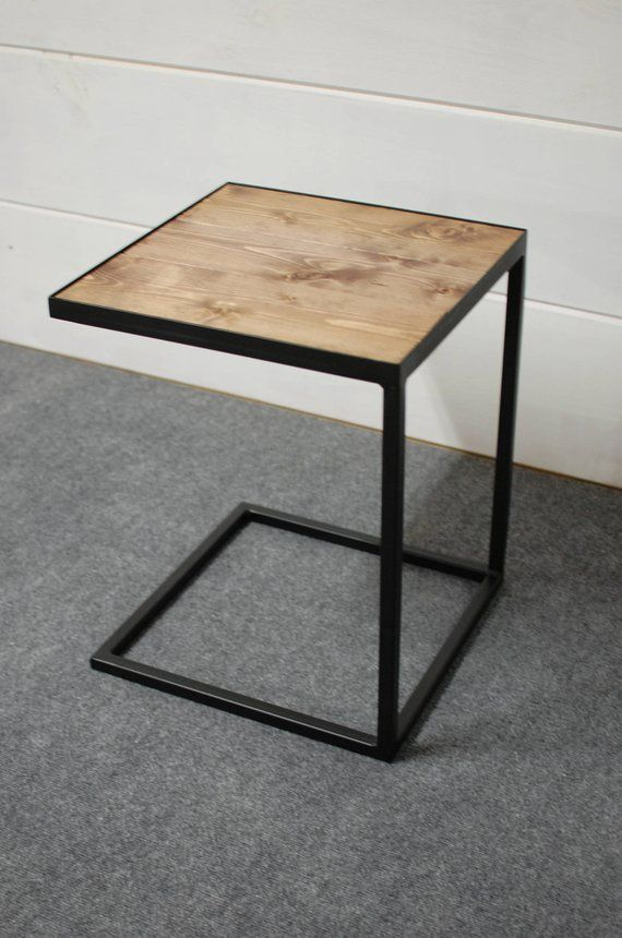 C Table Wood Side Table End Table Wood End Table Living Room