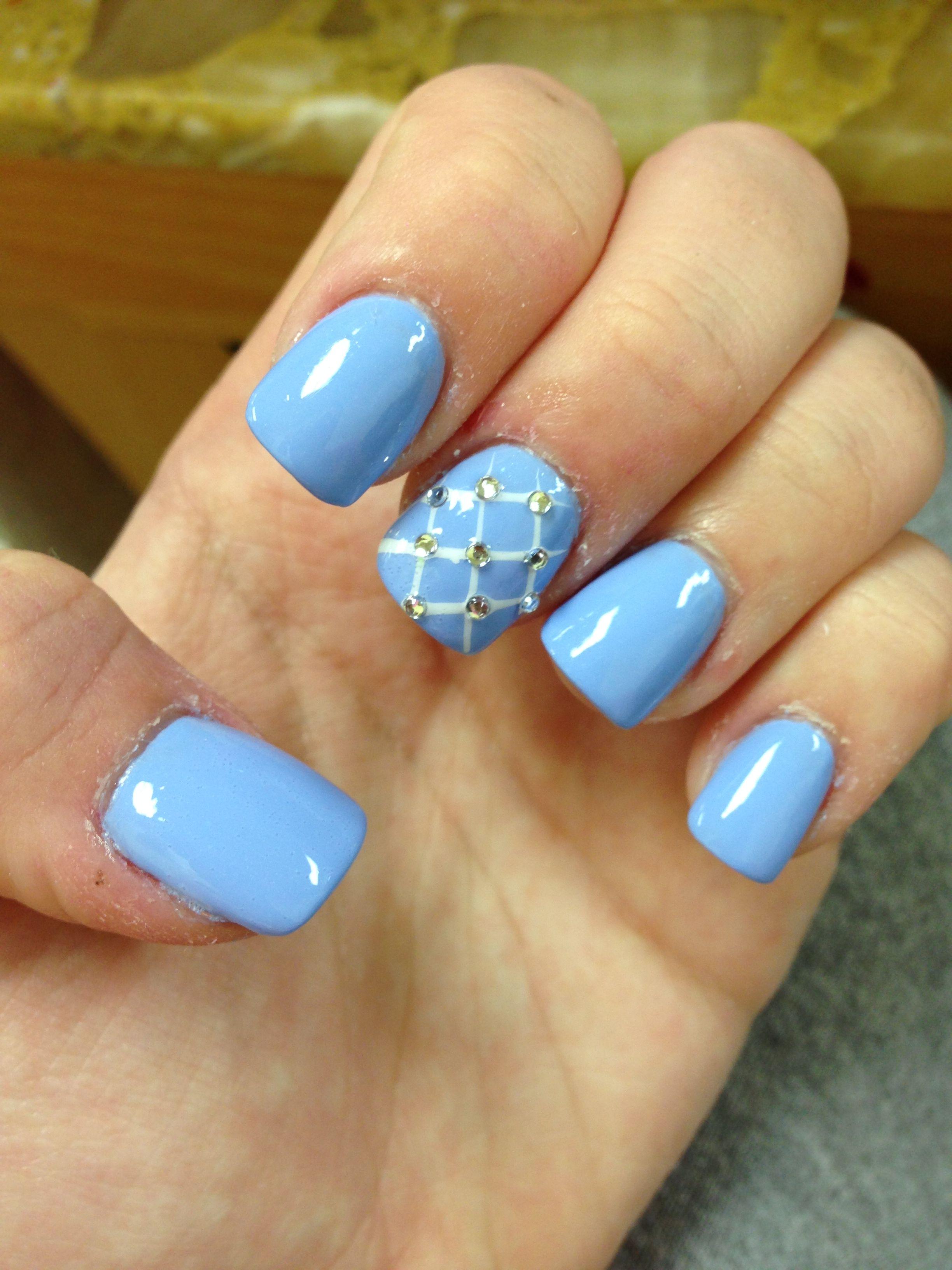 Blue diamond nails | Nails | Pinterest | Diamond nails, Blue nails ...