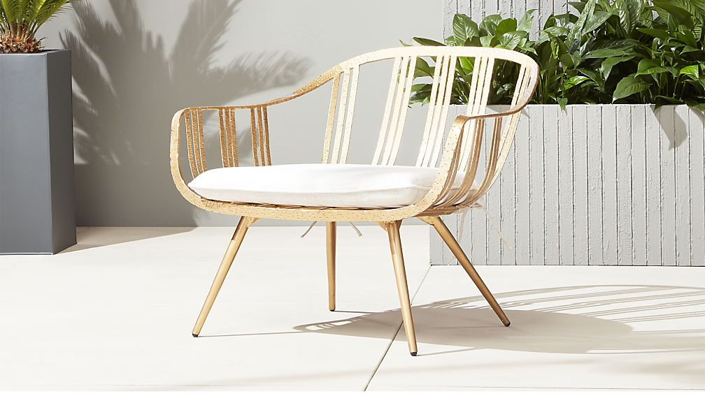 Gala Gold Lounge Chair Cb2 Modern Dining Chairs Gold Lounge