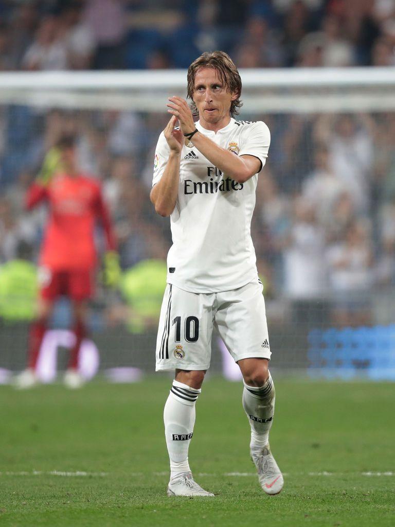 Luka Modric of Real Madrid during the La Liga Santander match between... f980eb56ace