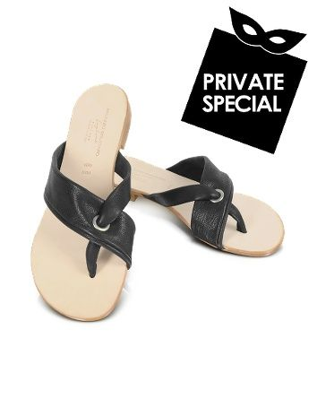 Amy - Black Leather Sandals - Secret 50% OFF Special, not accessible from our public site. Use code: PLATINUMCODE. Limited time only. Beautiful black leather uppers are handcrafted into intersecting diagonal strips for a classic sandal that elongates the foot. Leather soles offer maximum comfortable. Signature box included....