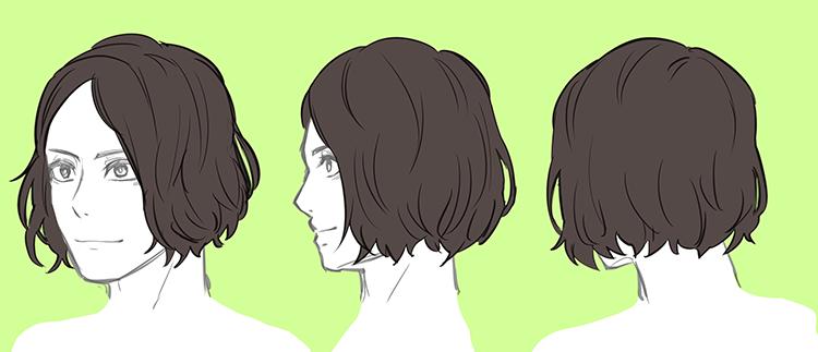 男性のリアルな髪型バリエーション 7選 いちあっぷ 描画のためのアイデア 髪のイラスト イラスト