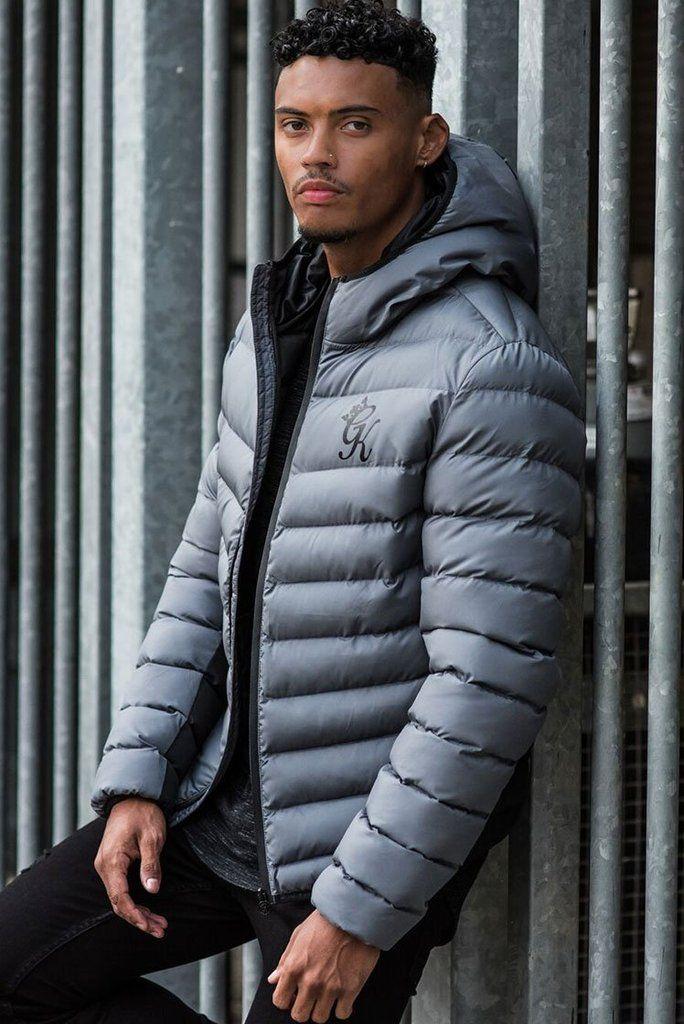 Gym King Puffa Jacket Dark Grey in 2020 Jackets