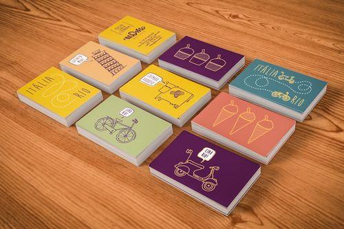 Momo Gelato Branding Business Card Design Cool Business Cards