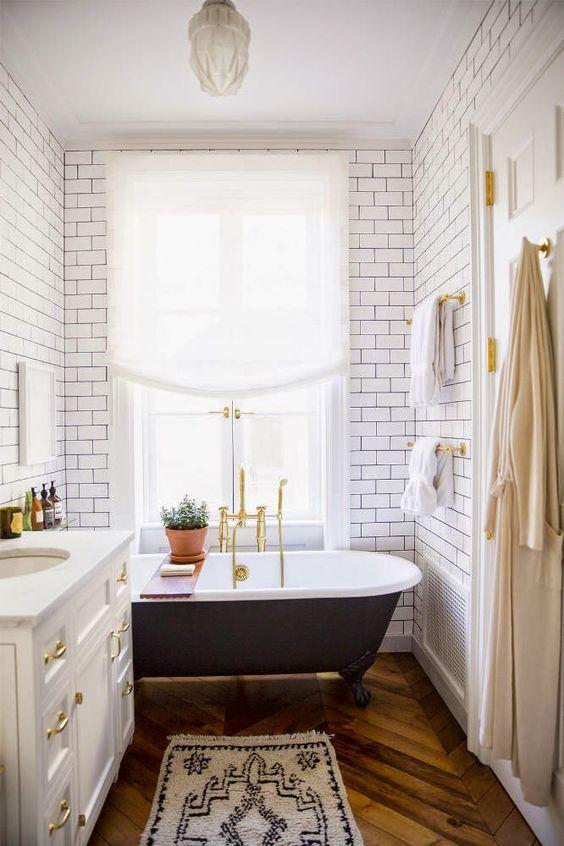 Badezimmer Vintage Style   Slagerijstok