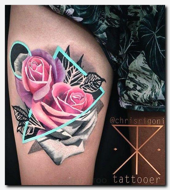 Pink Rose On Leg Tattoo Trendy Tattoos Hawk Tattoo Tattoos