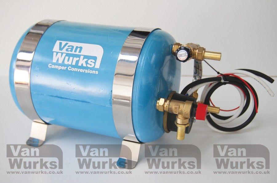 Vanwurks 12 240v Mini 6 Litre Water Heater With Mixer Valve Vanwurks Vw Camper Interiors Water Heater Vw Camper Camper