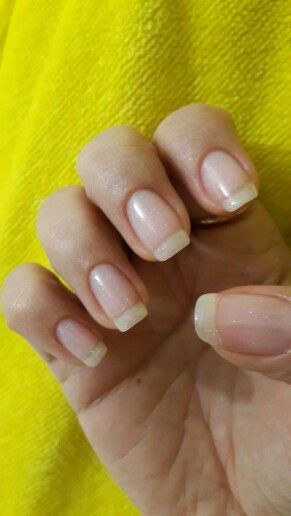 Acrygel Nails W Opi Gel Lacquer It Has Little Sparkles
