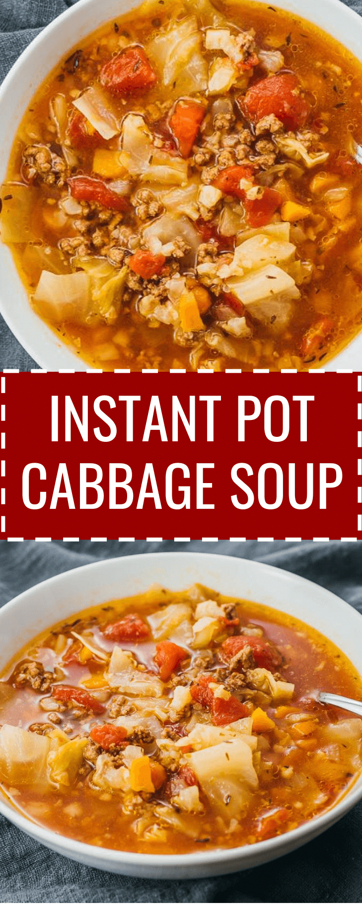 This Hearty Instant Pot Cabbage Soup Recipe With Ground Beef Is Great For Anyone On A Instant Pot Dinner Recipes Cabbage Soup Recipes Easy Instant Pot Recipes