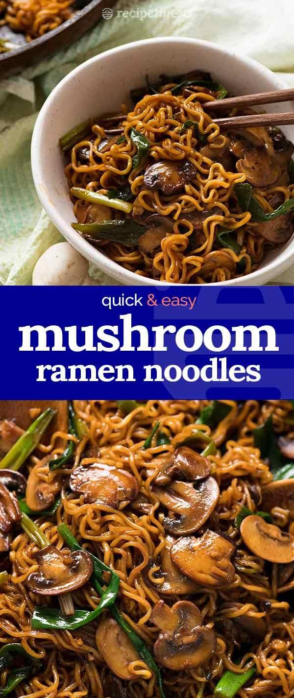 Asian Mushroom Ramen Noodles #foodsides