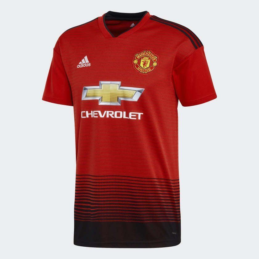 c948f3973 adidas Manchester United Official 2018 2019 Home Soccer Football Jersey (eBay  Link)