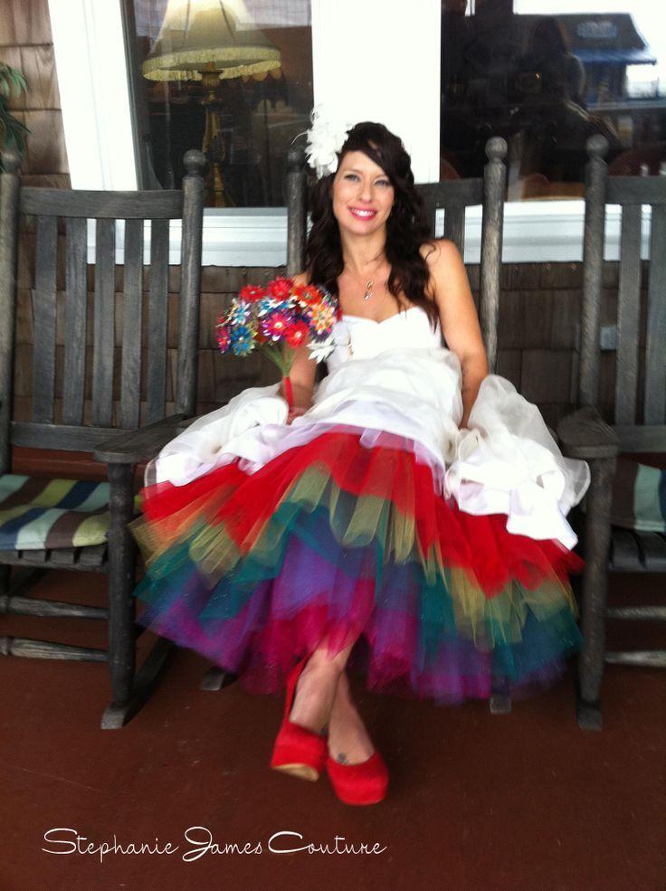 Pin By Hillary Moldovan On My Style Pinterest Rainbow Wedding Dress Rainbow Wedding Wedding Dresses