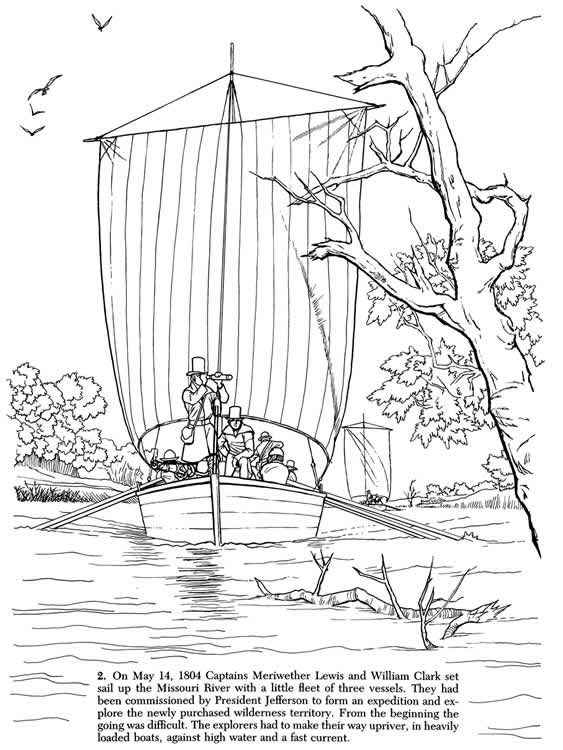 Welcome To Dover Publications Lewis And Clark Coloring Pages Printable Coloring Book