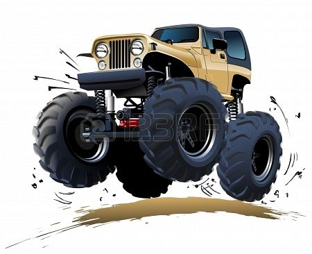 Stock Photo Monster Trucks Truck Art Car Cartoon