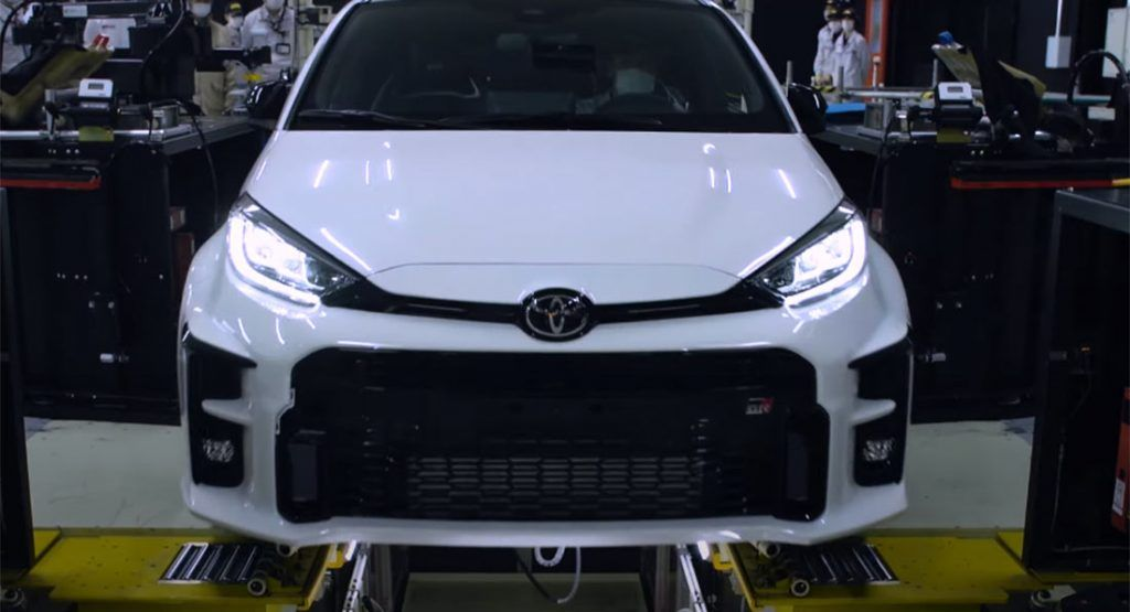 Watch The Toyota Gr Yaris Is Manufactured In A Very Special Factory Carscoops Yaris Toyota Hot Hatch