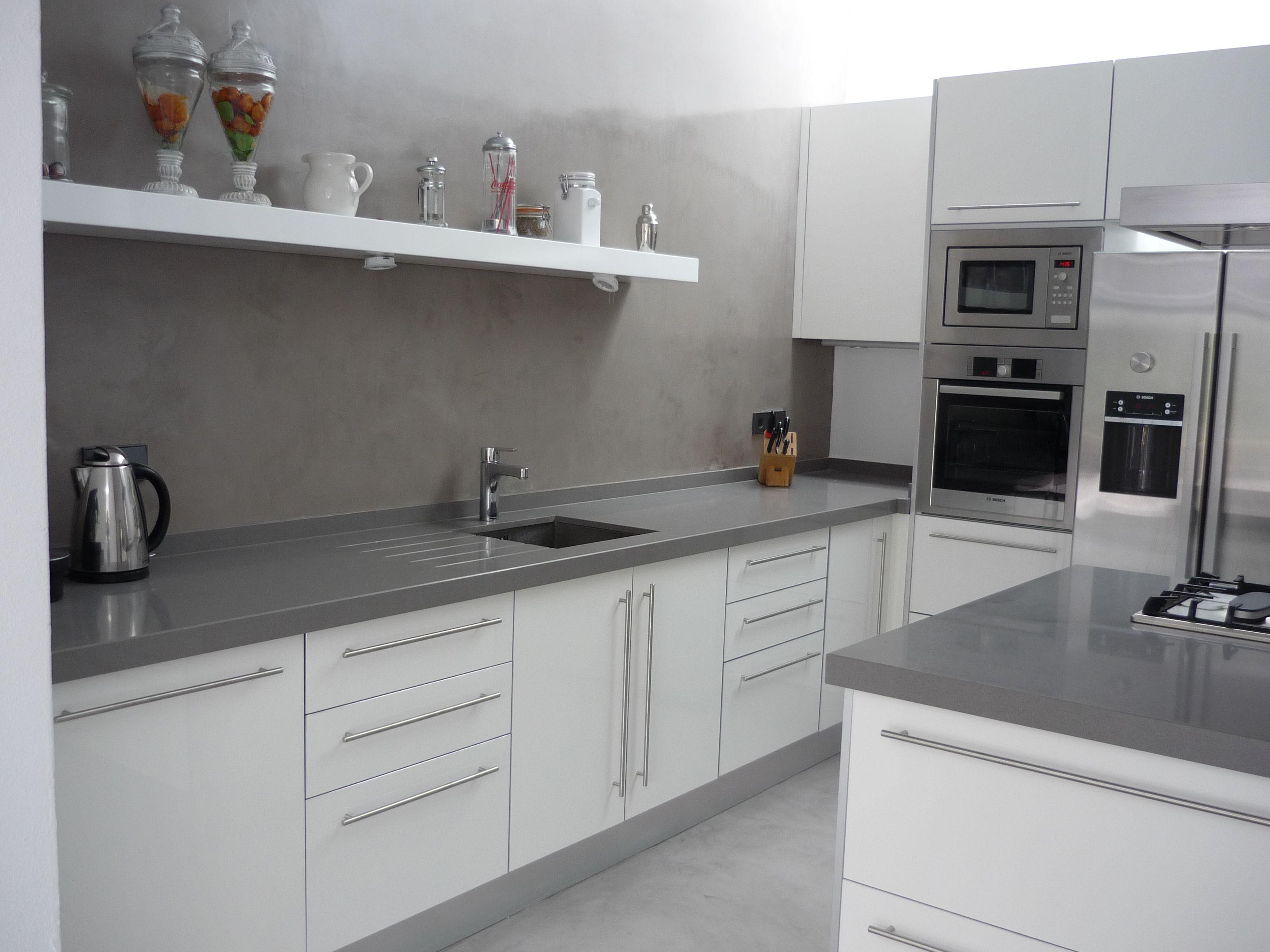 Resultat D 39 Imatges De Cocina Blanca Con Silestone Gris