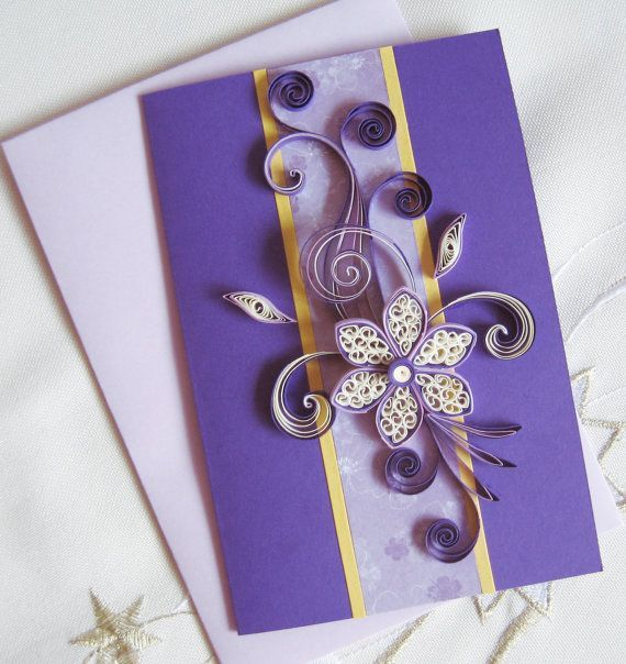 Mom Birthday Card Handmade Quilling Greeting Card Mum Bday – Handmade Greeting Cards for Birthday