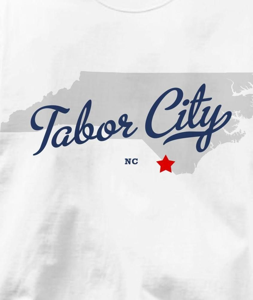 Tabor City Nc Map.Tabor City North Carolina Nc Map Souvenir T Shirt All Sizes Colors