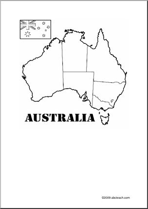 Australia Theme Unit: Printable Map to label and color ...