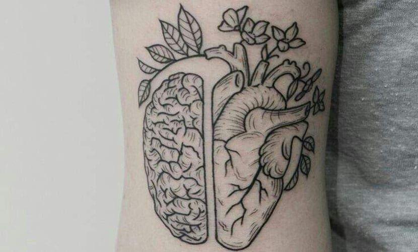 Tatuajes De Cerebro Y Corazon Cual Es Su Significado Tatuaje De Corazon Humano Tatuaje Corazon Tatuaje De Inspiracion
