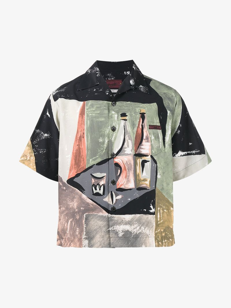 5567cf22a PRADA WINE BOTTLES BOWLING SHIRT. #prada #cloth # | Prada Men ...