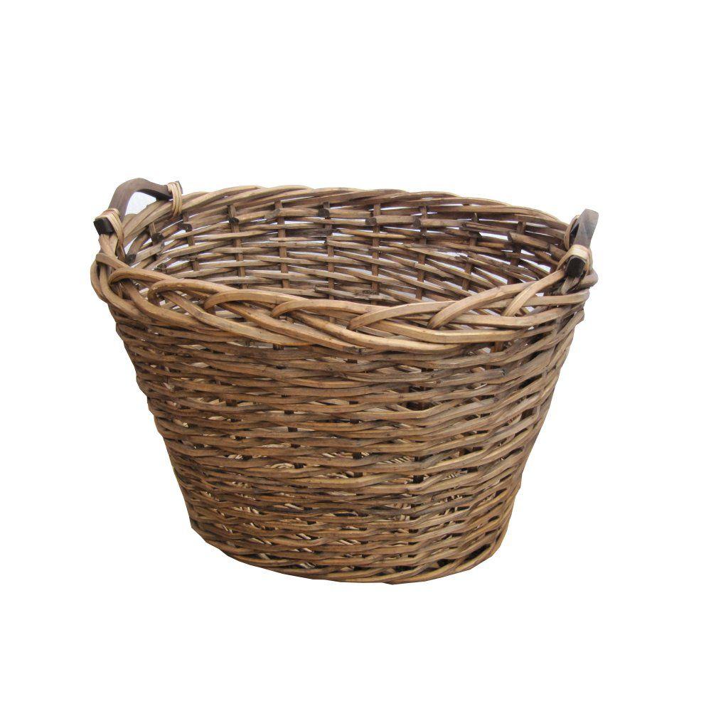 Wicker storage basket home storage baskets melbury rectangular wicker - Ambleside Oval Brown Wicker Log Storage Basket