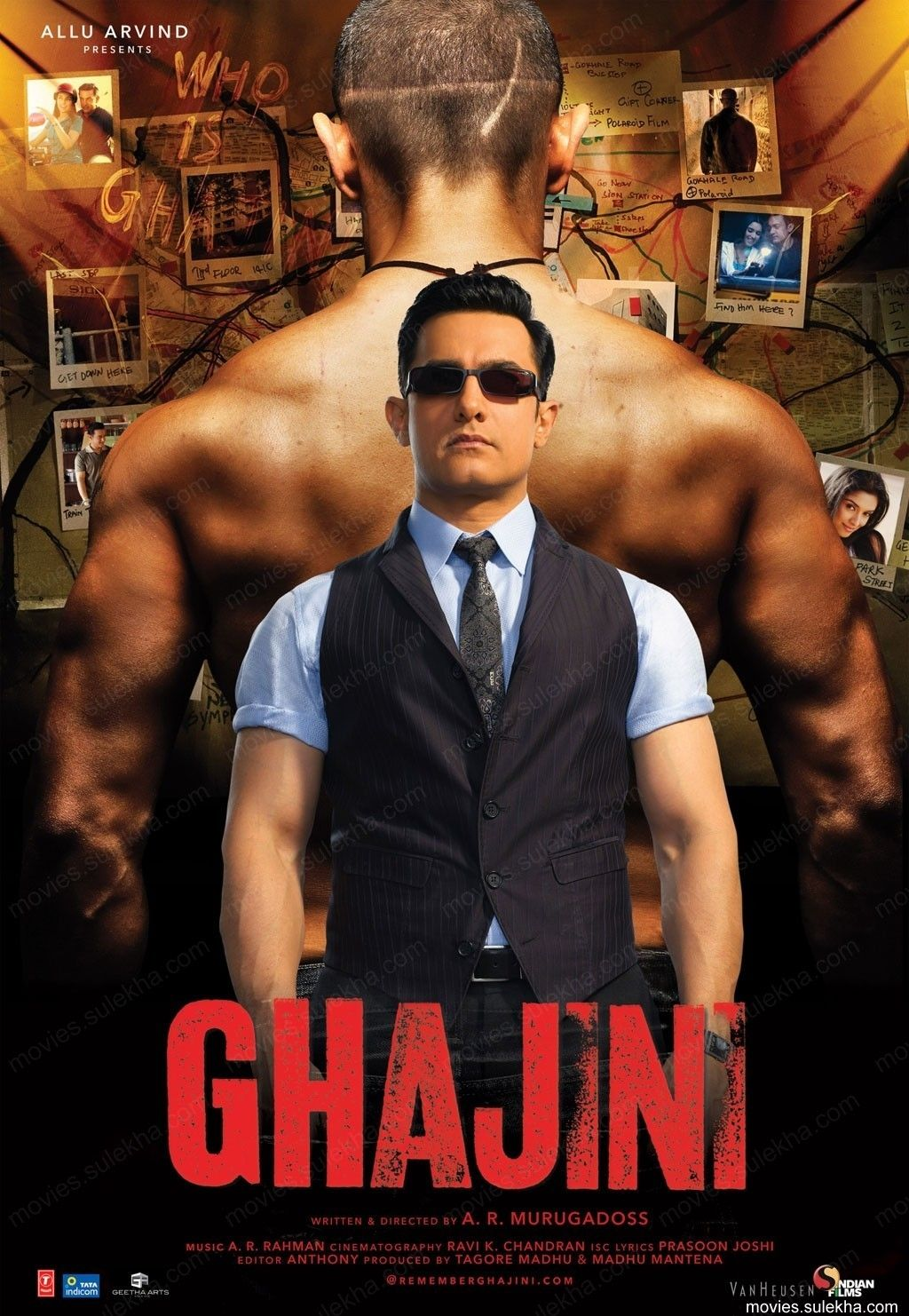 Ghajini 2008 Indian Movies 2019 Aamir Khan Bollywood Posters