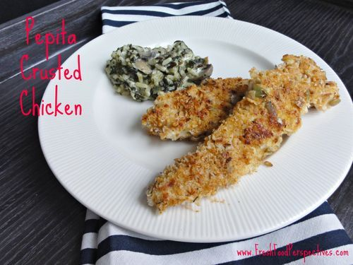 Pepita (Pumpkin Seed) Crusted Chicken Tenders. Mix up your typical chicken dinner with this easy recipe. Via FreshFoodPerspectives.com