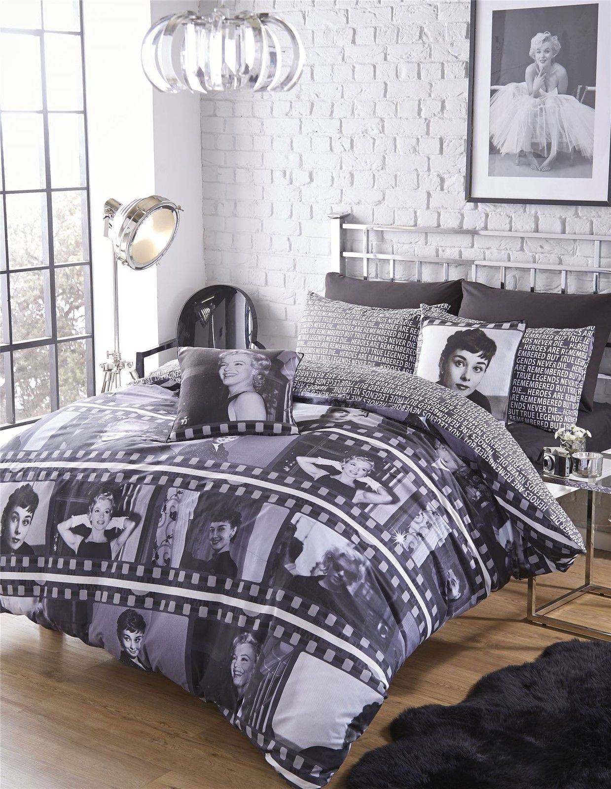 Catherine Lansfield®, Movie Legends, Duvet Cover, Audrey ...