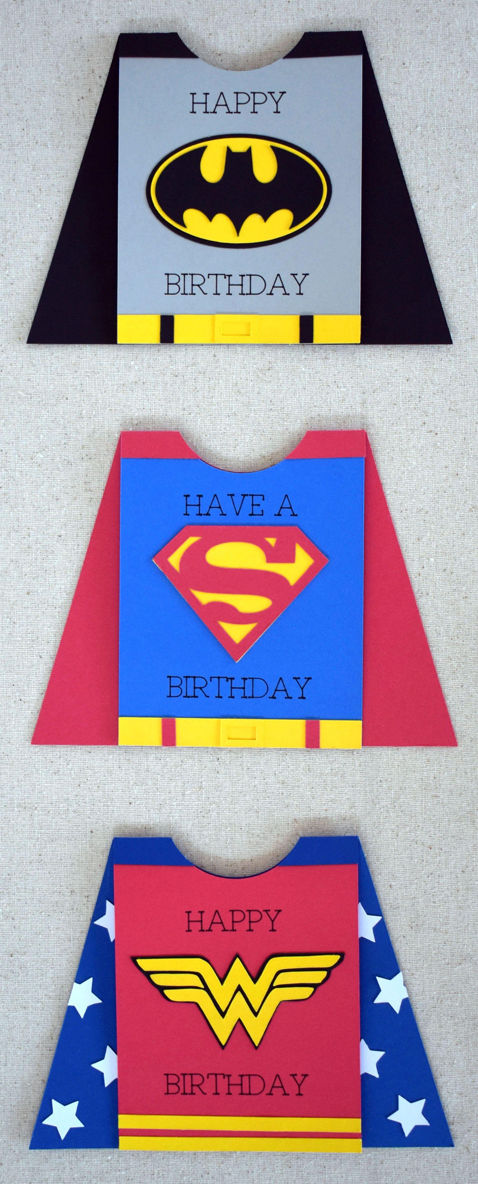 Superhero Card With Cricut Cricut Birthday Birthday Cards For Brother Cricut Birthday Cards