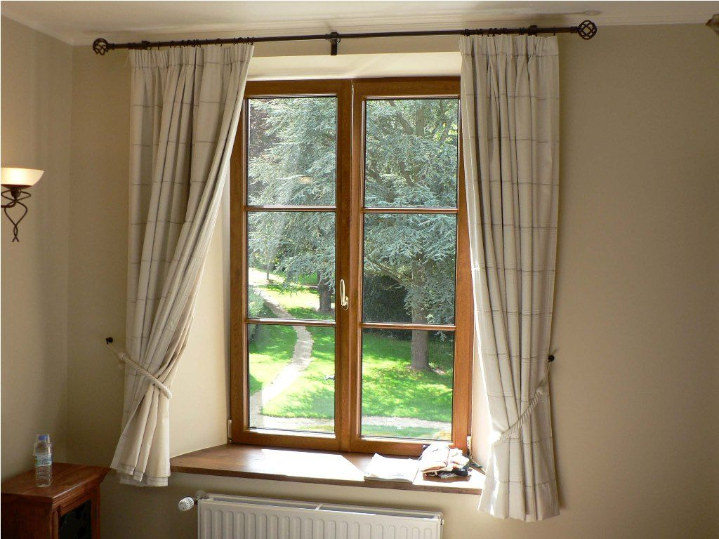 Furniture Beautiful Bay Window Curtain Rods Lowes Also Bay Window