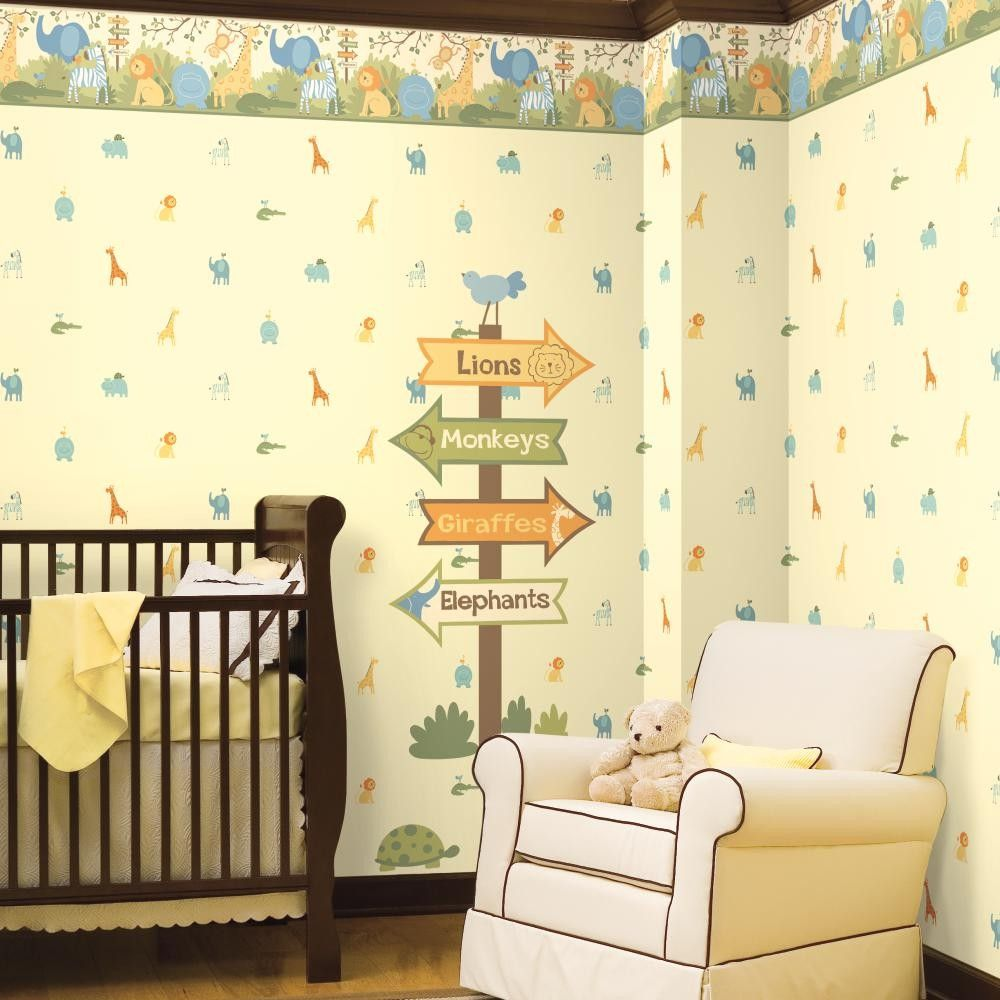 York Wallcovering Boys Will Be Boys A Day at the Zoo Wallpaper http ...