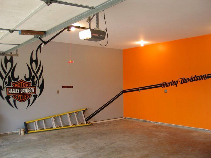 Adjoining wall in man cave garage i did that for Adjoining wall
