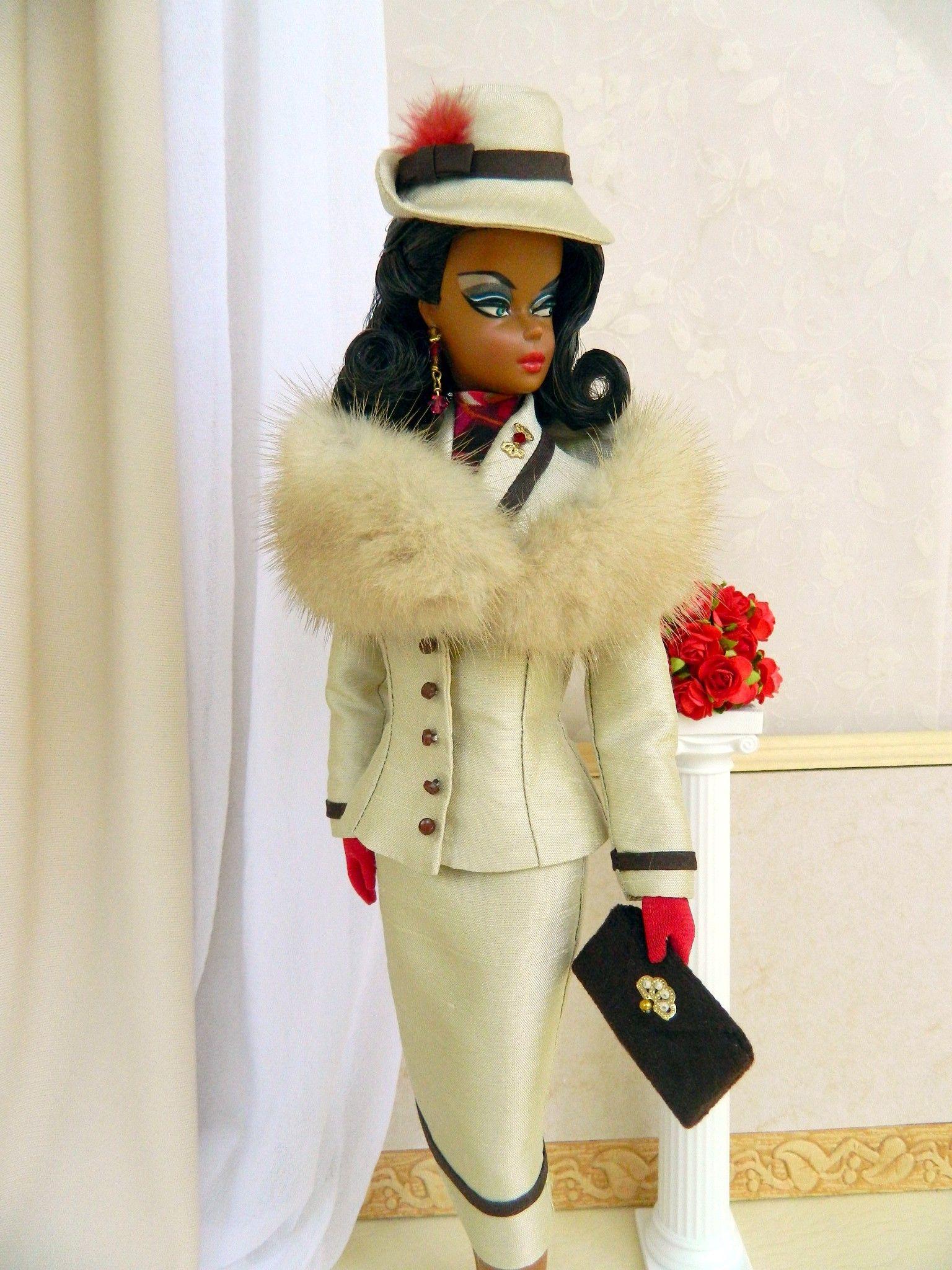 OOAK fashion for Silkstone/Vintage Barbie & Fashion Royalty Dolls by Joby Originals.