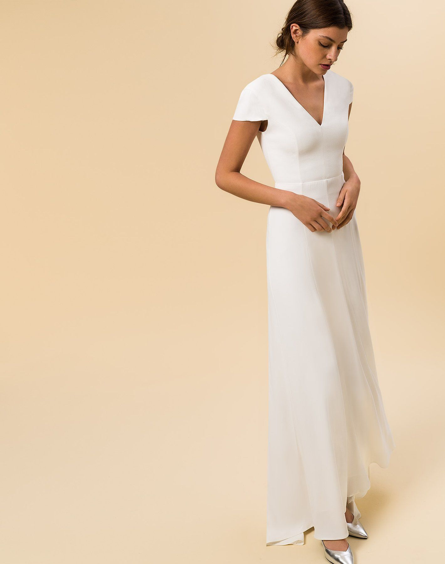 51f6a10e2af4 Bridal Cap Sleeve Dress in 2019 | Because we're getting married!