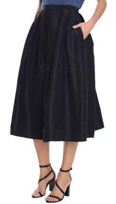 Silk Faille Full Skirt - Skirts | Shop | Tibi