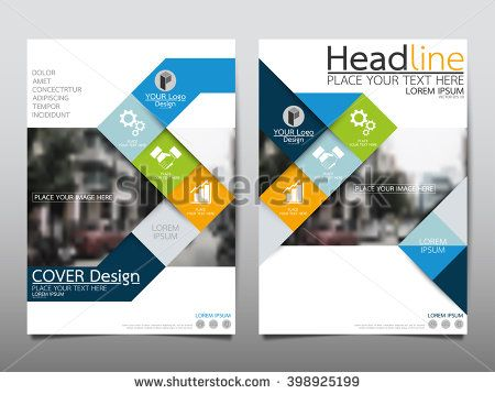 Blue annual report brochure flyer design template vector, Leaflet - annual report cover template