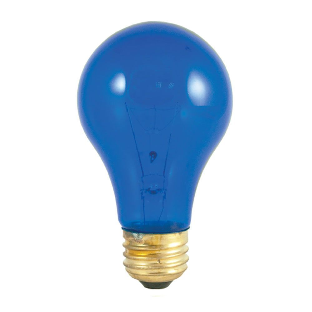 25w A19 Party Bulb Transparent Blue E26 120v Lightbulb4 Sold As 50 Azul Cobalto Colores Primarios Cobalto
