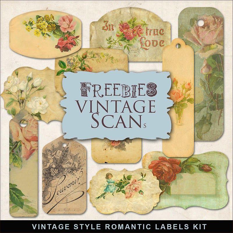 Freebies Vintage Style Romantic Labels In 2020 Free Digital Scrapbooking Vintage Printables Digi Scrapbooking