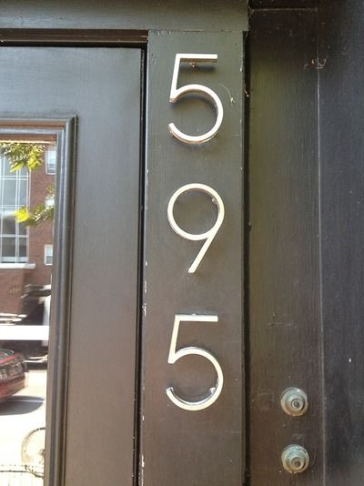 Graphic Mid Century Modern House Numbers Modern Bungalow