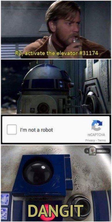 Clean Version Of The Meme R2d2 I Mnotarobot Starwarsmemes Star Wars Revengeofthesith Starwars Meme Funny Star Wars Memes Star Wars Memes Star Wars Humor