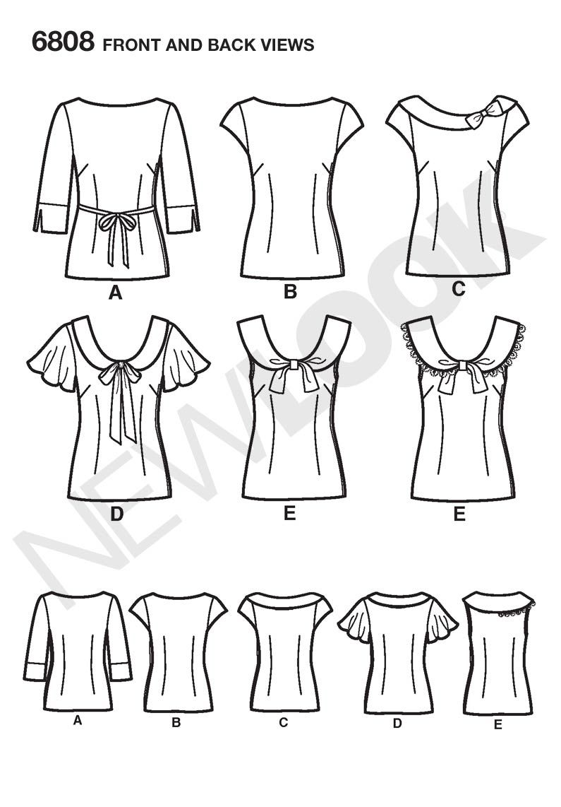 Womens easy tops sewing pattern 6808 new look sewing patterns womens easy tops sewing pattern 6808 new look jeuxipadfo Choice Image