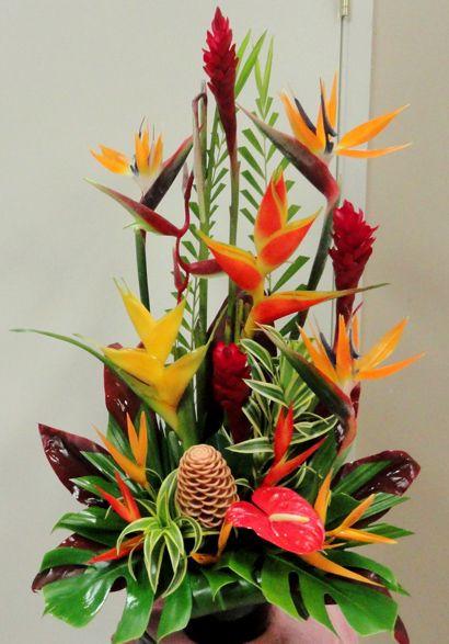 Large Tropical Arrangement Flowers Tropi