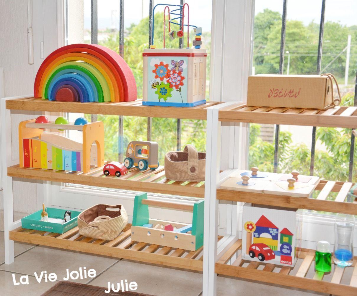 Am nager notre espace jeux montessori la vie jolie julie blog de maman b b chambre et - Chambre bebe petit espace ...
