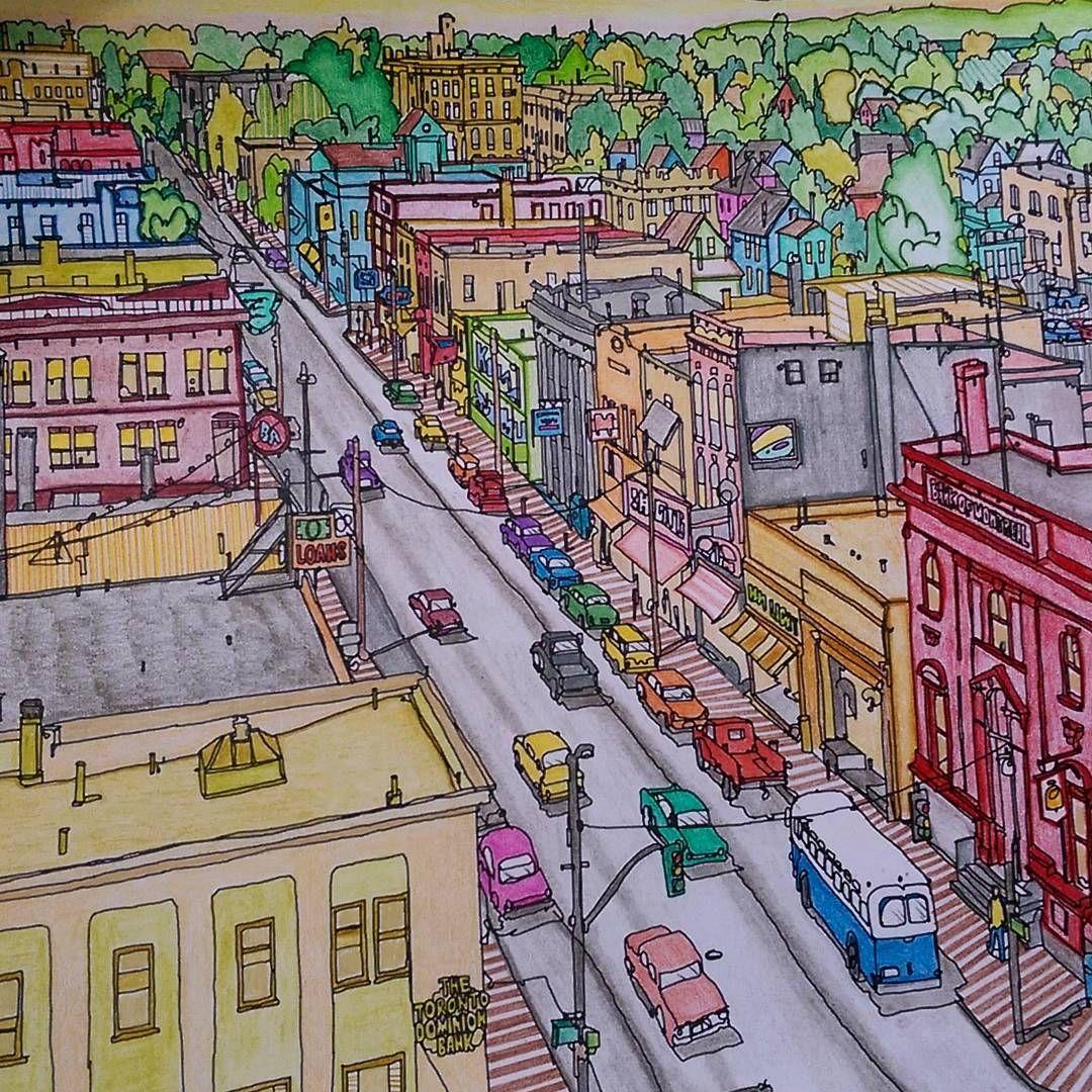 M E R E D I T H On Instagram Feb 2016 Still Enjoying The Fantastic Cities Coloring Book It S Al Fantastic Cities Coloring Book City Coloring Books