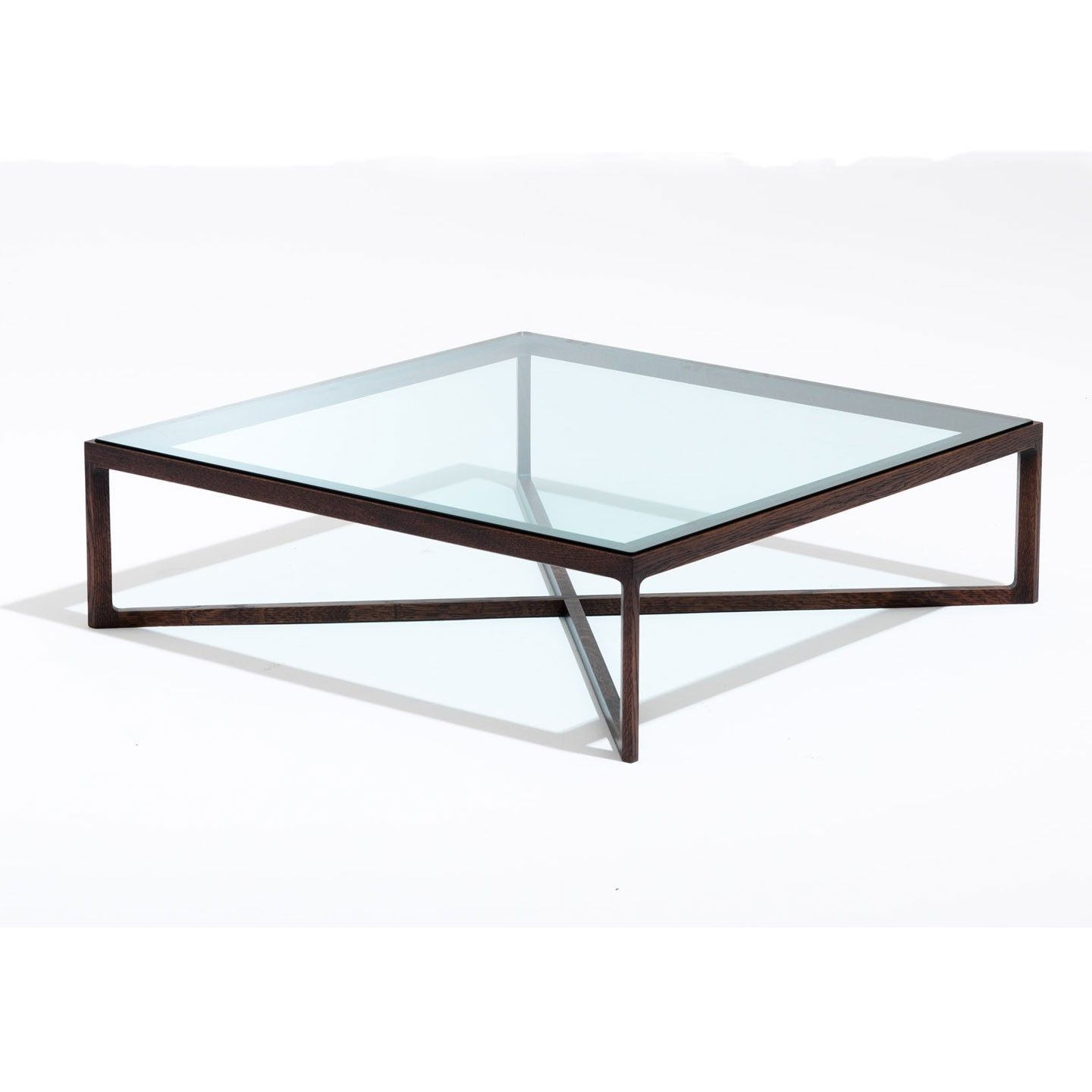 Glass top coffee tables with metal base - Square Glass Top Coffee Table With Metal Base