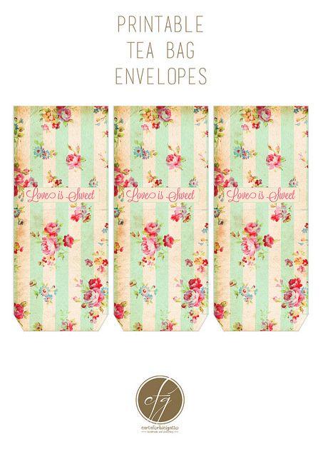 Free Printable Tea Bag Envelopes With Images Tea Bag Tea