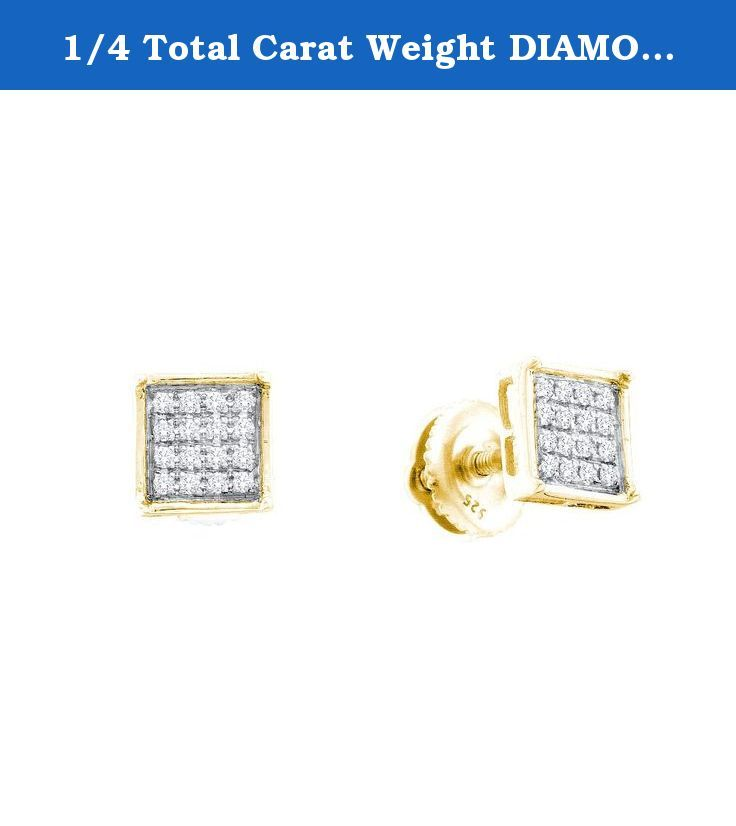 1/4 Total Carat Weight DIAMOND MICRO PAVE EARRINGS. 1/4 Total Carat Weight DIAMOND MICRO PAVE EARRINGS.